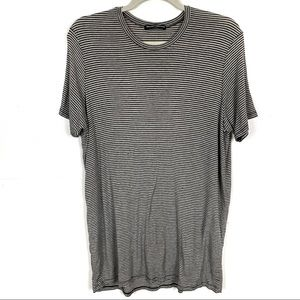 BRANDY MELVILLE Striped Tunic Shirt One Size